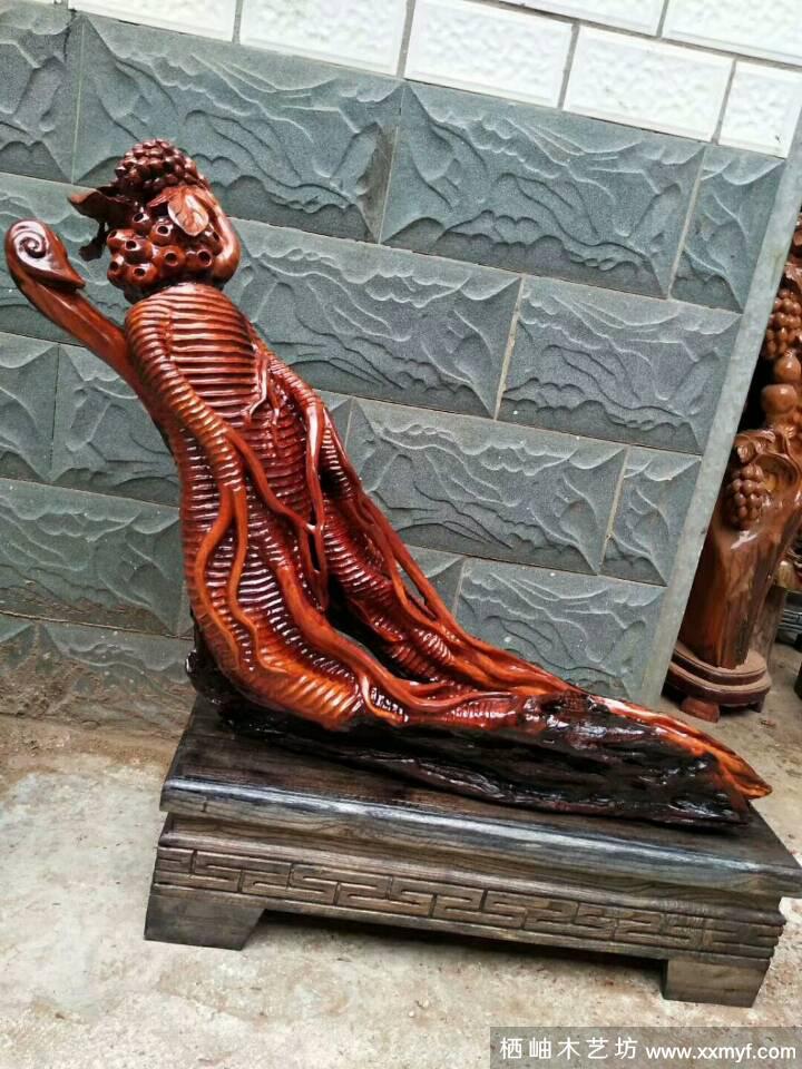 老撾紅花梨木雕