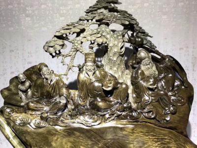 陰沉金絲楠木收藏級「福祿壽」