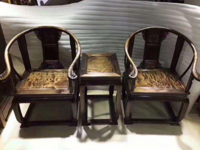 陰沉金絲楠「皇宮椅」三件套木藝家居