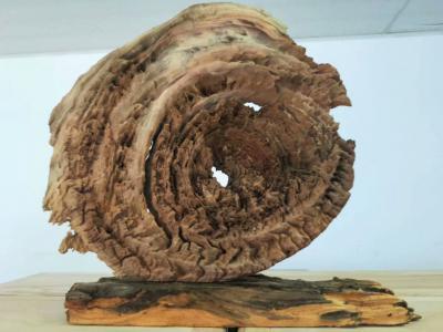 風化木天然木藝擺件「國色天香-牡丹」老木頭風化件