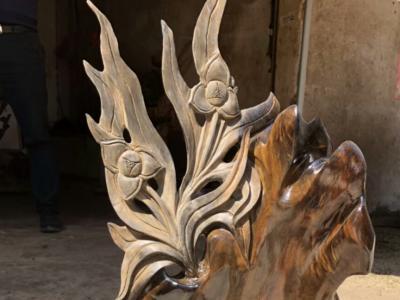 金絲楠陰沉木「香蘭擺件」木雕擺件