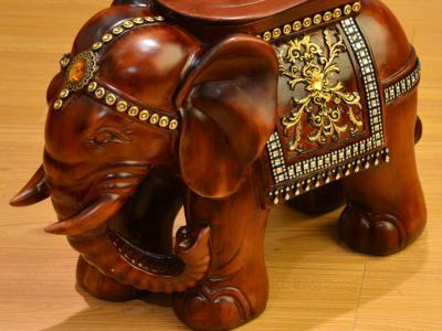 紅木大象木藝擺件的寓意