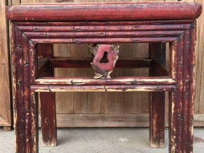 文房竹節雕刻凳子
