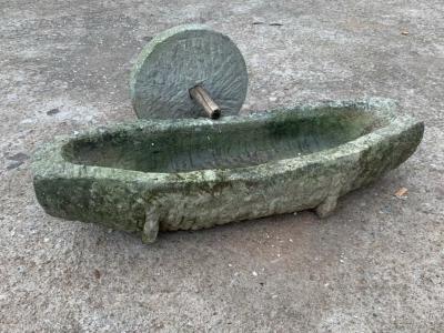 石刻大藥槽藥碾子帶黏盤