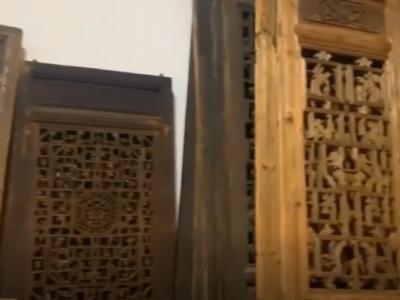 風化木老門窗