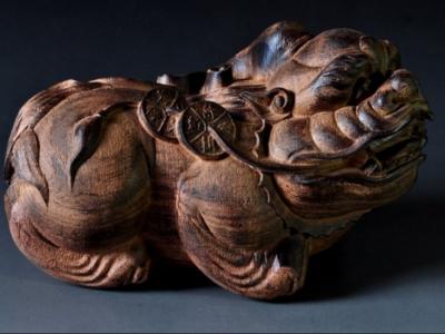木雕貔貅風水擺放開光