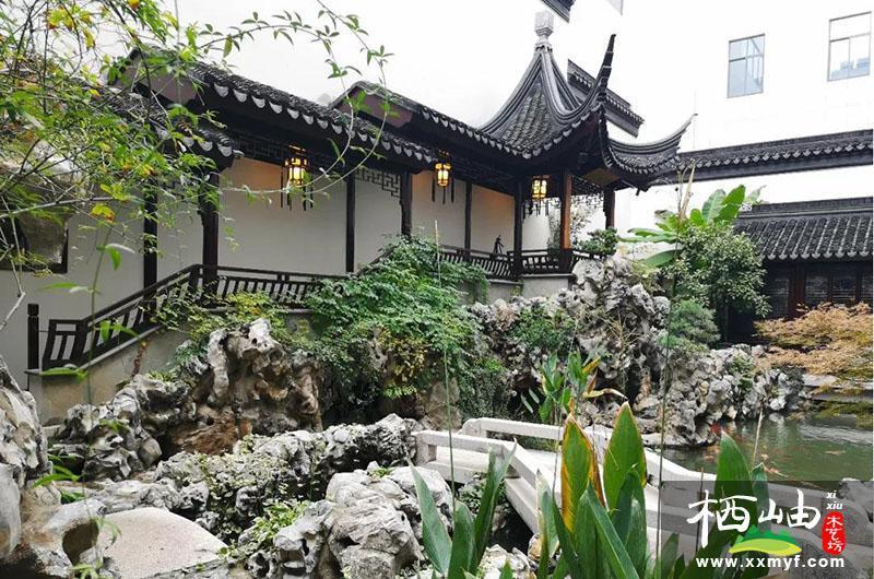 會所中式花園