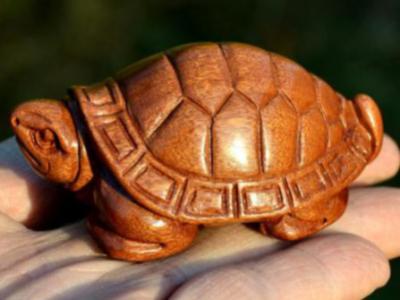 木雕龍龜寓意招財長壽