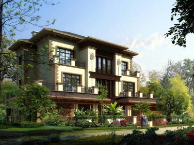 雙拼別墅庭院景觀設計方案